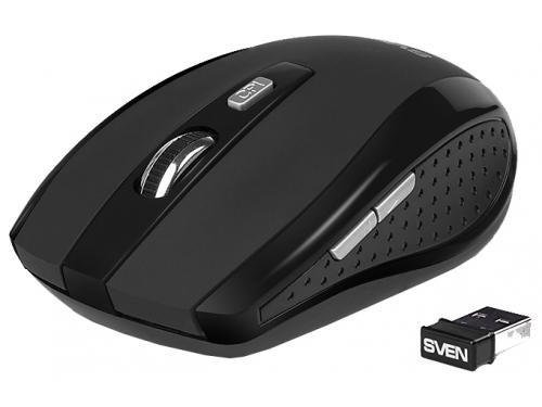 Мышка Sven RX-335 Wireless USB, черная, вид 2