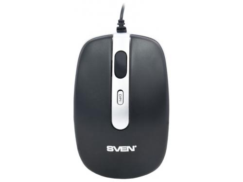 Мышка Sven RX-500 Silent, черная, вид 3