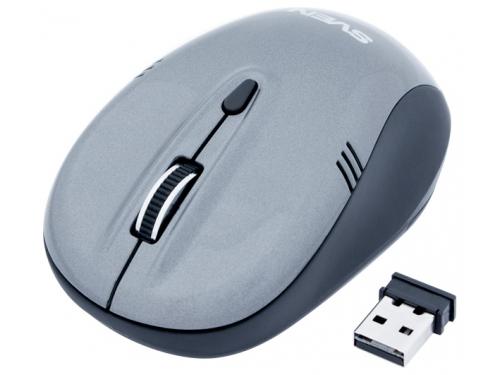 Мышка Sven RX-330 Wireless, серая, вид 1