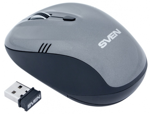Мышка Sven RX-330 Wireless, серая, вид 2