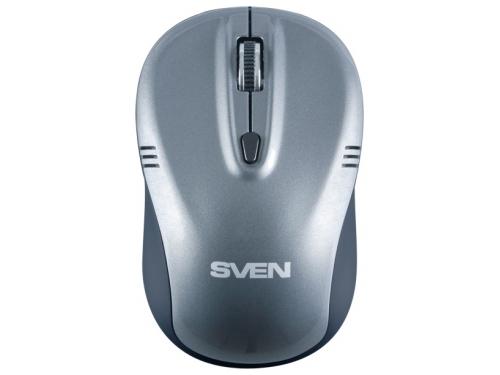 Мышка Sven RX-330 Wireless, серая, вид 3