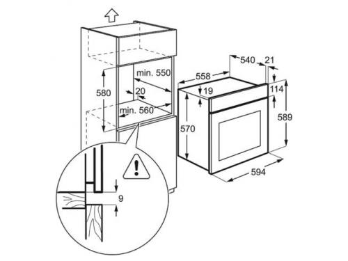 Духовой шкаф Electrolux EZB 52410AW, вид 2