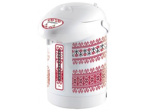 Чайник электрический Energy Термопот TP-616, белый с красным рисунком, вид 1
