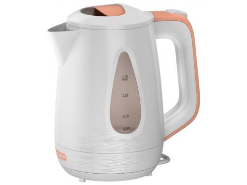 Чайник электрический Ладомир-335, белый с персиковым, вид 1