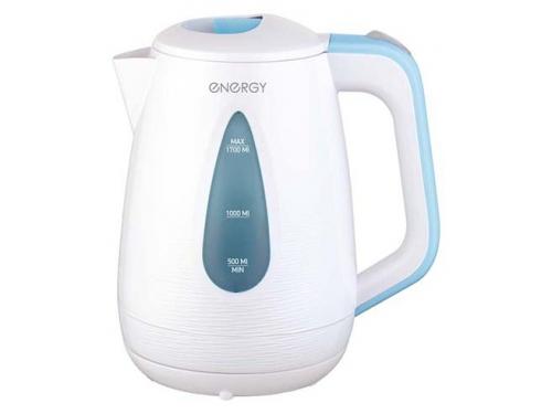 Чайник электрический Energy Е-214, белый/голубой, вид 1