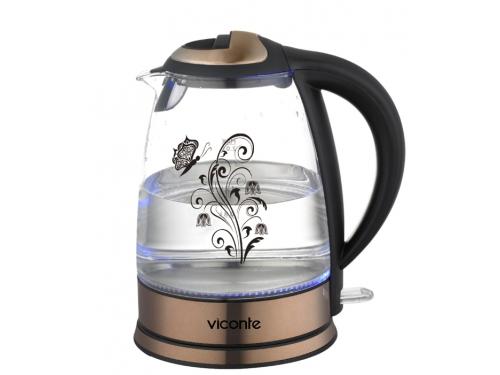Чайник электрический Viconte VC-3249, медный, вид 1