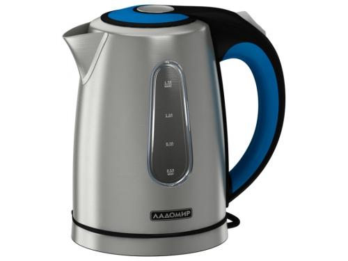 Чайник электрический Ладомир-117, серебристый+черно-синий, вид 1
