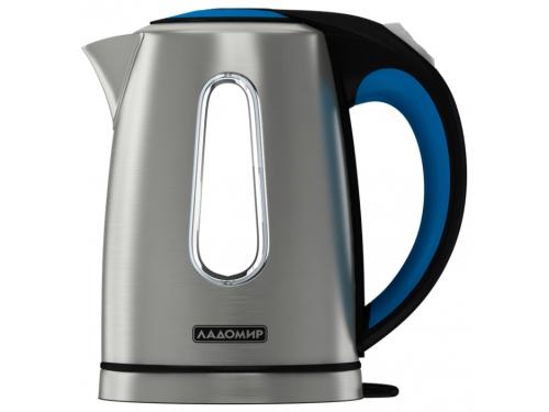 Чайник электрический Ладомир-117, серебристый+черно-синий, вид 2