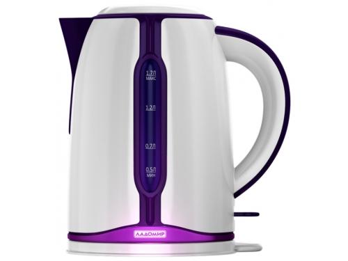 Чайник электрический Ладомир 328, белый/фиолетовый, вид 1