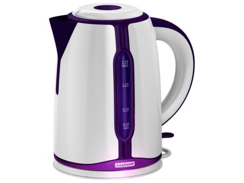 Чайник электрический Ладомир 328, белый/фиолетовый, вид 2
