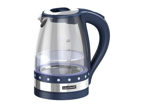 Чайник электрический Ладомир-115-6, синий, вид 1