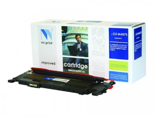 Картридж для принтера NV Samsung CLT-M407S Magenta, вид 1