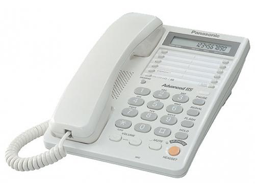 Проводной телефон Panasonic KX-TS2365RUW, белый, вид 1