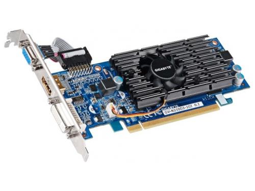 Видеокарта GeForce Gigabyte PCI-E GV-N210D3-1GI  GF210 1024Mb 64bit DDR3, вид 1