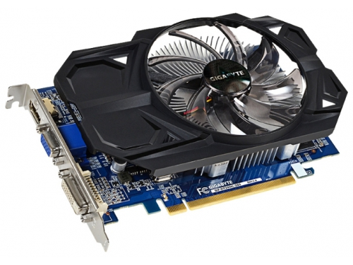 Видеокарта Radeon Gigabyte PCI-E ATI GV-R724OC-2GI R7 240 2048Mb 128bit DDR3 HDMI+DVI-I RTL, вид 1