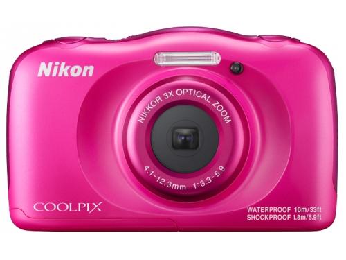 Цифровой фотоаппарат Nikon Coolpix W100, розовый, вид 1