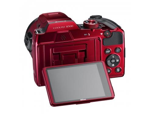 Цифровой фотоаппарат Nikon Coolpix B500, красный, вид 2