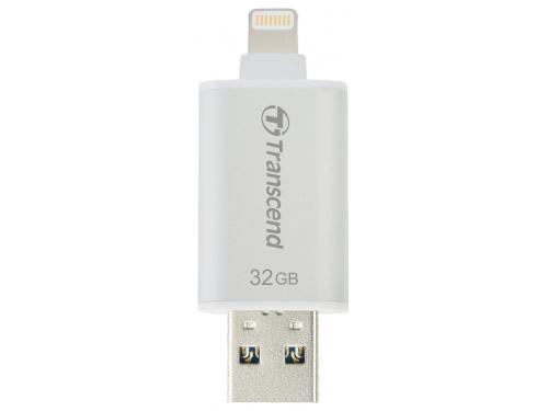Usb-флешка 32 Gb, Transcend JetDrive Go 300. Silver. Apple lightning / USB3.1, вид 3