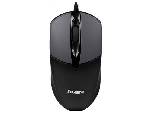Мышка Sven RX-112 USB, серая, вид 1