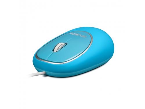 Мышка Sven RX-555 USB, голубая, вид 2