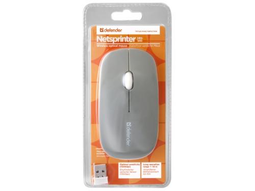 Мышка Defender NetSprinter MM-545, серо-белая, вид 4