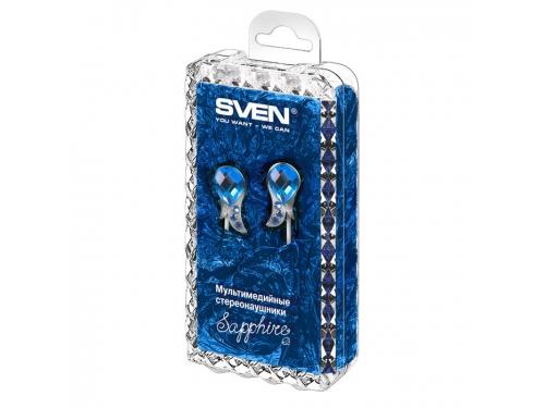Наушники Sven SEB Sapphire, бело-синие, вид 2