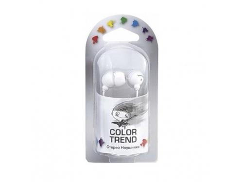 Наушники SmartBuy Color Trend SBE-1200, белые, вид 2