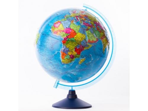Товар для детей глобус Globen Евро 320 мм, политический, рельефный с подсветкой, вид 1