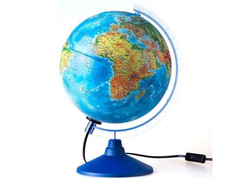 Товар для детей глобус Globen Евро 250 мм, физико-политический, рельефный с подсветкой, вид 1