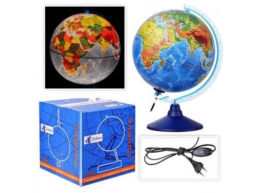 Товар для детей глобус Globen Евро 250 мм, физико-политический, рельефный с подсветкой, вид 2
