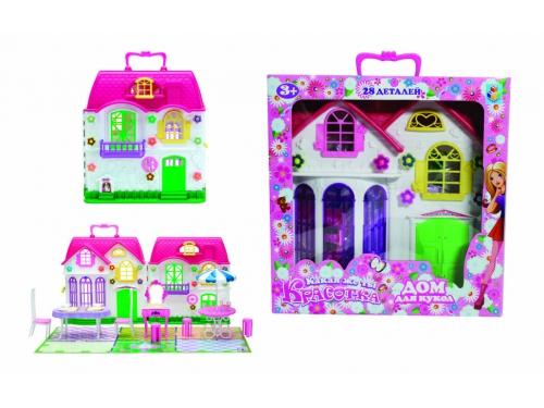 Товар для детей Дом для кукол 1toy Красотка 28 деталей, вид 1