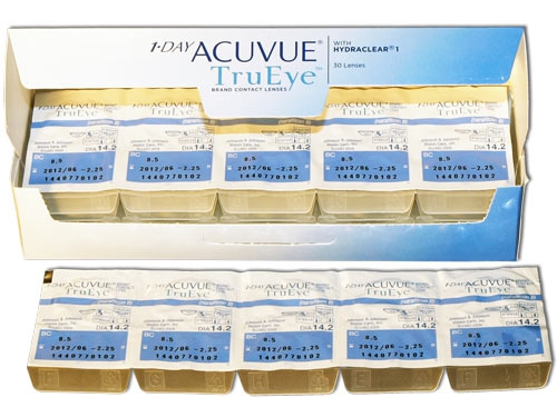 Контактные линзы Johnson&Johnson 1-Day Acuvue TruEye, R: 8.5, D: -2.75, 30 шт., вид 2
