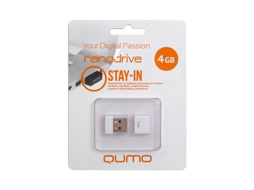 Usb-флешка Qumo Nanodrive USB2.0 4Gb (RTL), White, вид 1