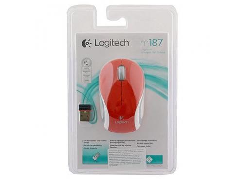 Мышка Logitech M187, красная, вид 1