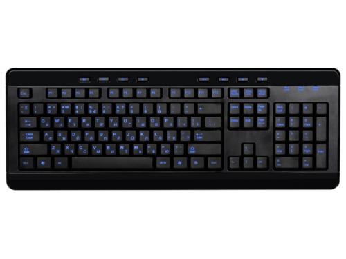 Клавиатура Gembird KBL-007 Black USB (синяя подсветка), вид 1