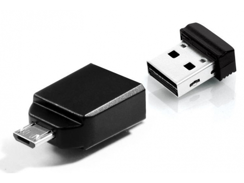 Usb-������ Flash Drive 8 Gb Verbatim STORE N GO Nano OTG 49820 USB2.0 ������ with Micro USB Adapter, ��� 1