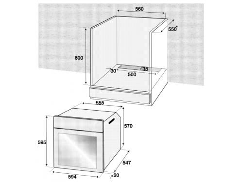 Духовой шкаф Beko BIE 22301 X, серебристый, вид 2