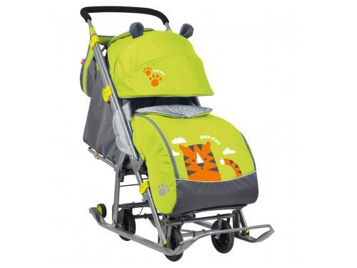 Санки-коляска Nika Ника детям 7 Тигр лимонный, вид 1