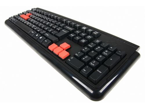 Клавиатура A4Tech X7-G300 Can-Be-Washed Gaming Black PS/2, вид 4