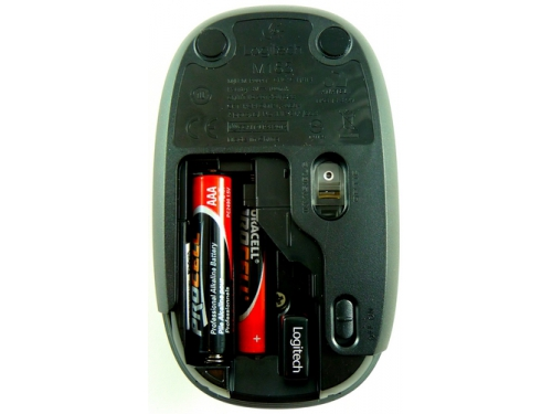 Мышка Logitech M165 black wireless USB, вид 4