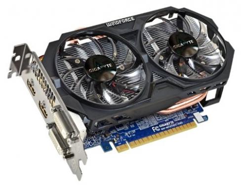 Видеокарта GeForce Gigabyte PCI-E NV GV-N75TOC-2GI GTX750 Ti 2048MB DDR5 128bit, вид 3