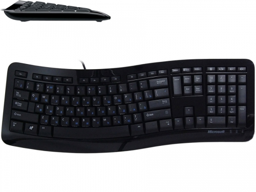 Клавиатура Microsoft Comfort Curve Keyboard 3000 Black USB, вид 1