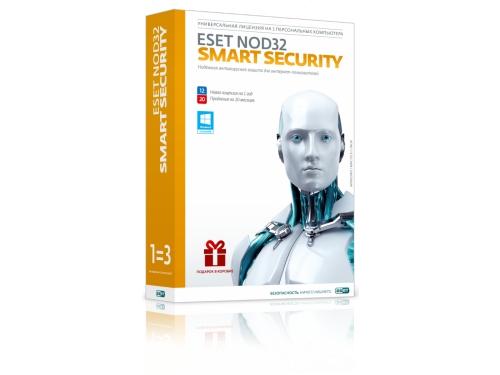 Антивирус ESET NOD32 Smart Security лицензия на 1 год 3-ПК\Продление на 20 мес., вид 2