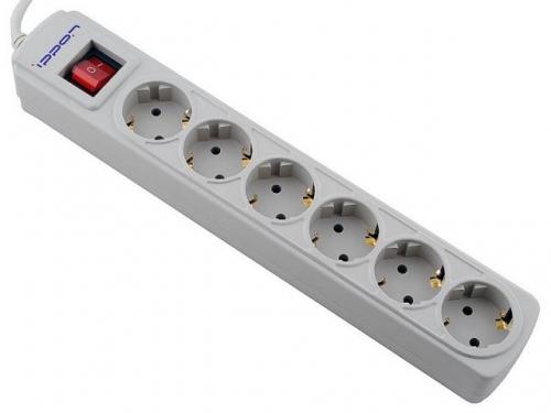 Сетевой фильтр Ippon BK232 3.0, серый, вид 1