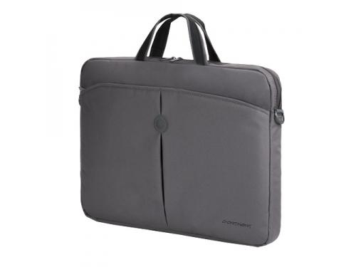 Сумка для ноутбука Continent CC-01 Black-silver 15