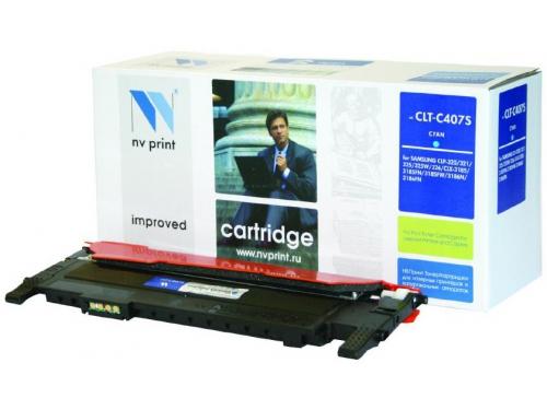 Картридж для принтера NV Samsung CLT-C407S Cyan, вид 1