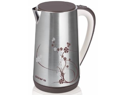 Чайник электрический Polaris PWK 1503CA бело/коричневый, вид 1