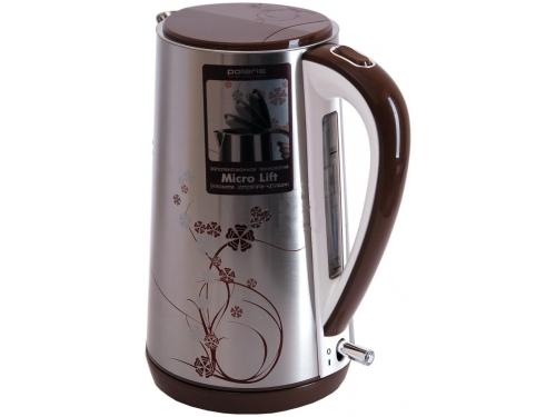 Чайник электрический Polaris PWK 1503CA бело/коричневый, вид 2