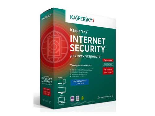 Программа-антивирус Kaspersky Internet Security Multi-Device Russian Ed. 2-Device, продление лицензии на 1 год, вид 1