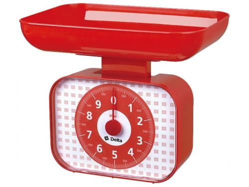 Кухонные весы Delta КСА-105, красные, вид 1